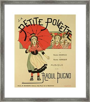 Reproduction Of A Poster Advertising The Operetta La Petite Poucette Framed Print by Louis Maurice Boutet de Monvel
