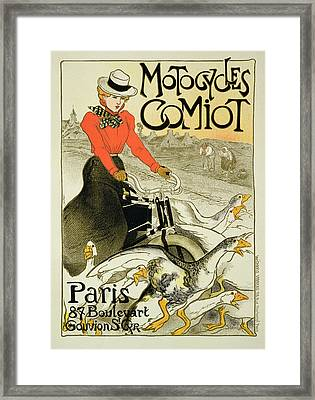 Reproduction Of A Poster Advertising Framed Print by Theophile Alexandre Steinlen