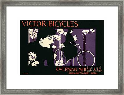 Reproduction Of A Poster Advertising Victor Bicycles Framed Print by American School