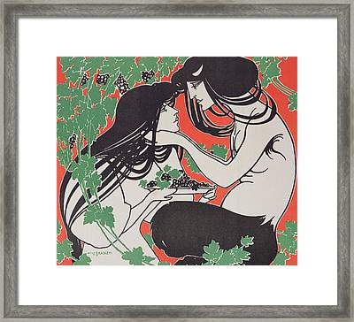 Reproduction Of A Poster Advertising 'when Hearts Are Trumps' By Tom Hall  Framed Print by William Bradley