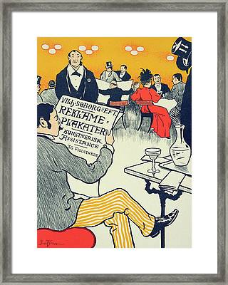 Reproduction Of A Poster Advertising Wilhelm Soborg Framed Print by Paul Fischer