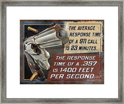 Repsonse Time Framed Print by JQ Licensing