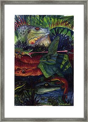 Reptile Collage Framed Print