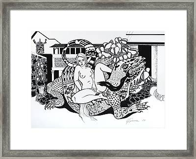 Reptile Ride Framed Print by Yelena Tylkina