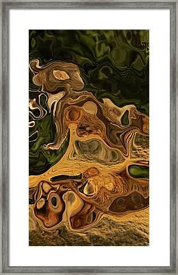 Reptilian Ball Framed Print