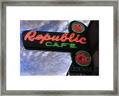 Republic Cafe Framed Print by Gail Lawnicki