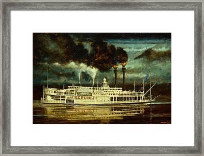 Grand Republic Steam Boat Framed Print by Don  Langeneckert