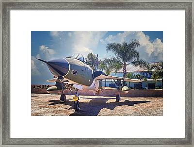 Framed Print featuring the photograph Republic F-105 Thunder Chief by Steve Benefiel