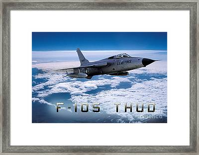 Republic F-105 Thunderchief Framed Print by Wernher Krutein