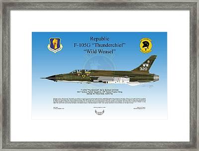 Republic F-105g Thunderchief Framed Print by Arthur Eggers