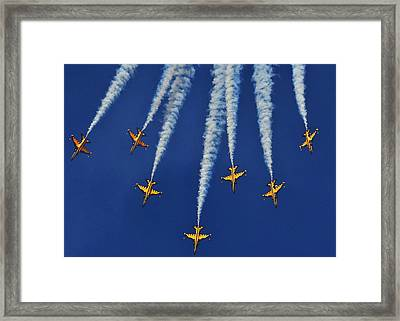 Republic Of Korea Air Force Black Eagles Framed Print