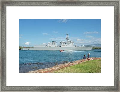 Republic Of Korea Navy Guided-missile Framed Print