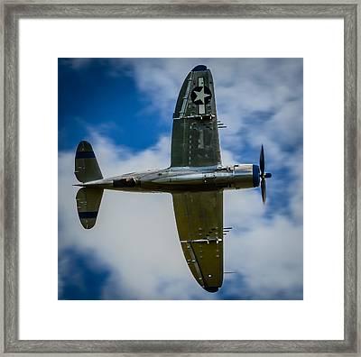 Republic P-47d Thunderbolt Warbird Fighter  Framed Print by Puget  Exposure
