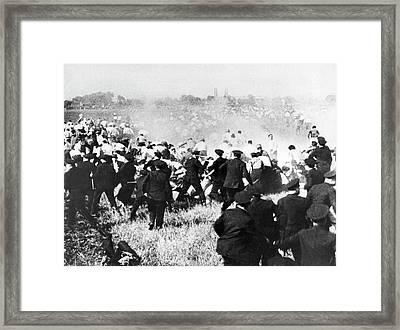 Republic Steel Strike Massacre Framed Print