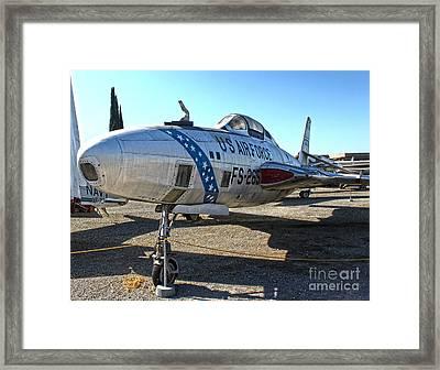 Republic Thunderflash Rf-84k - 02 Framed Print by Gregory Dyer