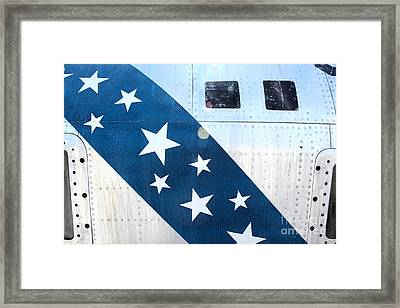 Republic Thunderflash Rf-84k - Stars Framed Print by Gregory Dyer