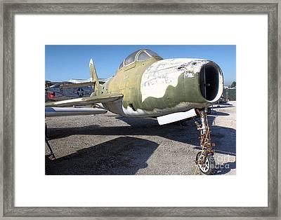Republic Thunderstreak F-84f Framed Print by Gregory Dyer