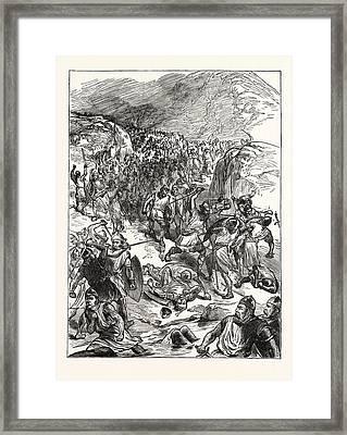 Repulse Of The English At Corwen Framed Print