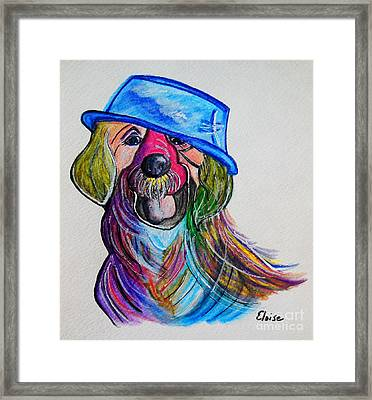 Lab Repurposing The Water Bowl Framed Print by Eloise Schneider