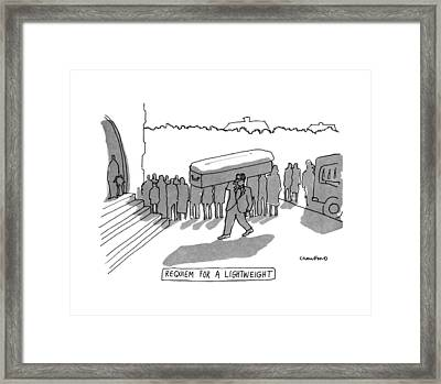 Requiem For A Lightweight Framed Print by Michael Crawford