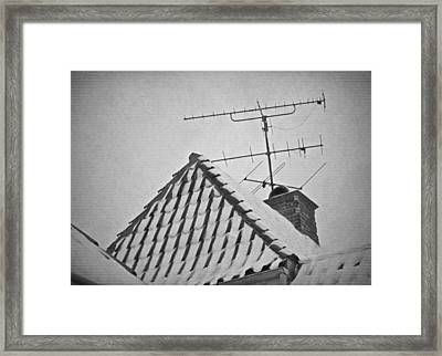 Reruns And Tv Dinners Framed Print by Odd Jeppesen