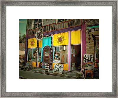 Resale Framed Print by MJ Olsen