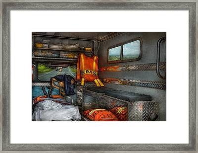 Rescue - Emergency Squad  Framed Print by Mike Savad