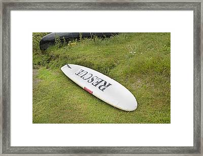 Rescue Keem Beach Ireland Framed Print by Betsy Knapp