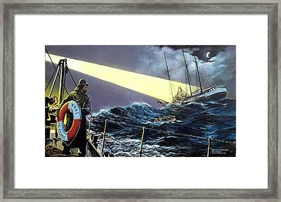 Rescue Of The Helen B.  Sterling 1922 Framed Print