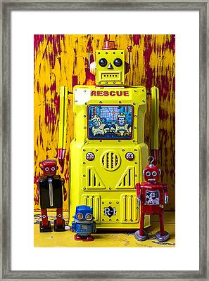 Rescue Robot Framed Print by Garry Gay