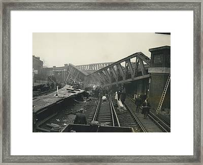 Rescue Work Goes On In The Lewisham Rail Crash Engineers Framed Print by Retro Images Archive