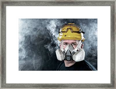 Rescue Worker Framed Print