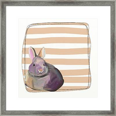 Rescued Bunny Framed Print