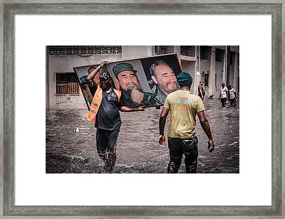 Rescued Castro Framed Print