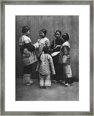 Rescued Chinese Slave Girls Framed Print