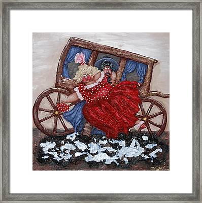Rescuing A Damsel In Distress Framed Print
