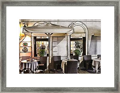 Reservations Only Venice Italy Framed Print by Tom Prendergast