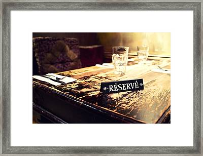 Reservations Required Framed Print by Tanya Harrison
