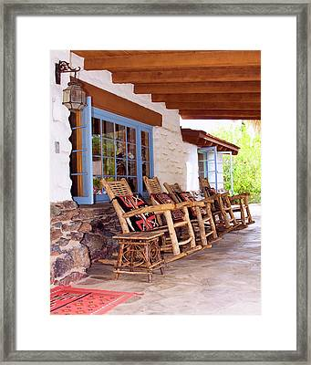 Reserved Seating Palm Springs Framed Print by William Dey