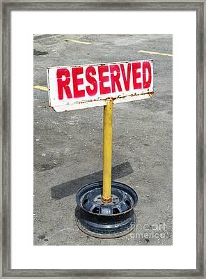 Reserved Signpost Framed Print