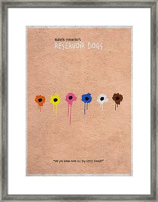 Reservoir Dogs - 2 Framed Print by Ayse Deniz