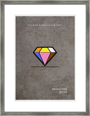 Reservoir Dogs - 3 Framed Print by Ayse Deniz