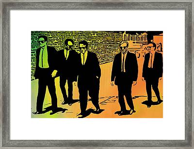 Reservoir Dogs Framed Print by Dan Sproul