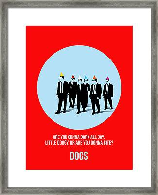 Reservoir Dogs Poster 1 Framed Print by Naxart Studio