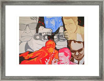 Reservoir Dogs Tribute Framed Print by Gary Niles
