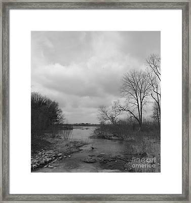Reservoir In Winter  Framed Print by Sara  Raber