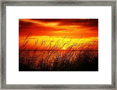 Reservoir Sunset 3 Framed Print