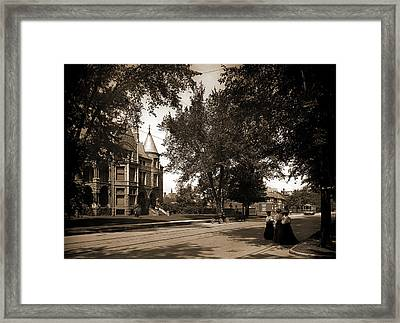 Residence And Detroit Athletic Club, Detroit Framed Print by Litz Collection