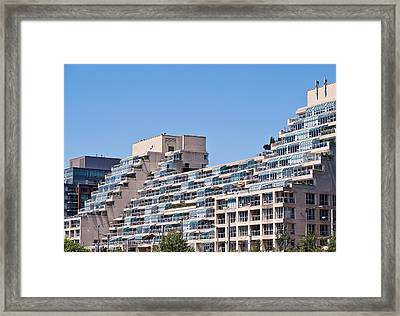 Framed Print featuring the photograph Residential Building Toronto by Marek Poplawski