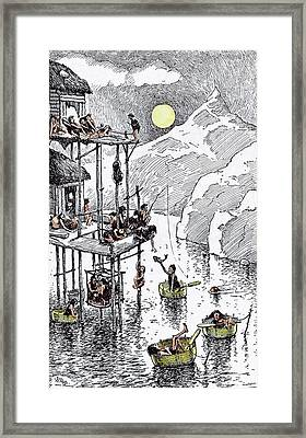 Residential Flats In Primeval Times Framed Print